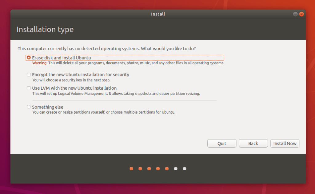 Installation d'Ubuntu