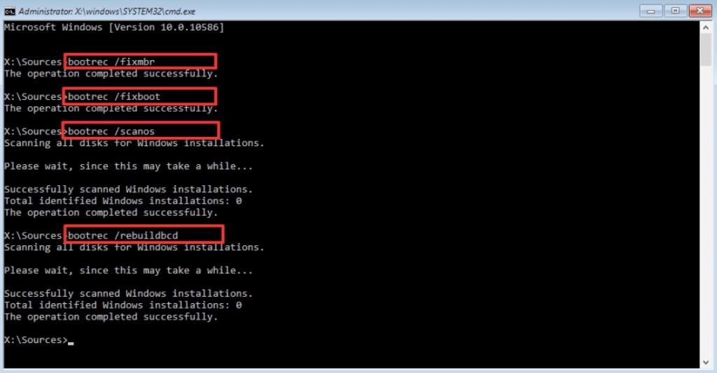 Comment réparer Windows 7 à l'aide de l'invite de commande