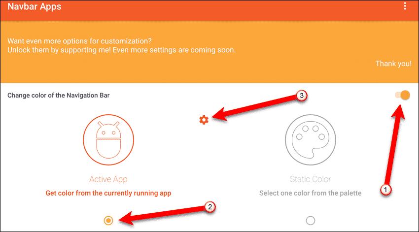 Personnalisez la barre de navigation sur Android