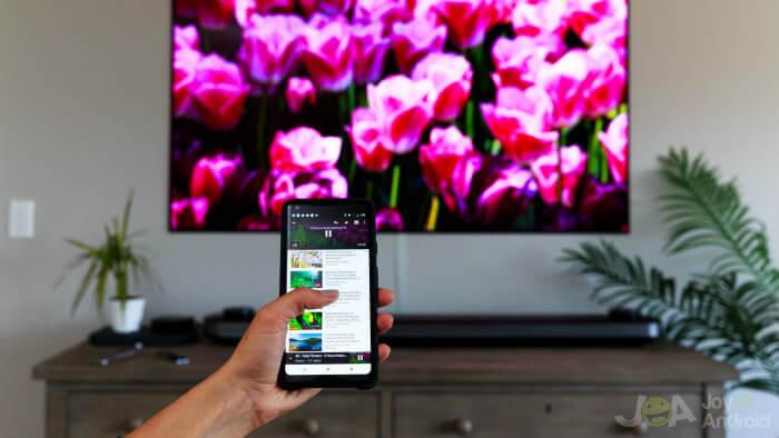smartphone sur tv