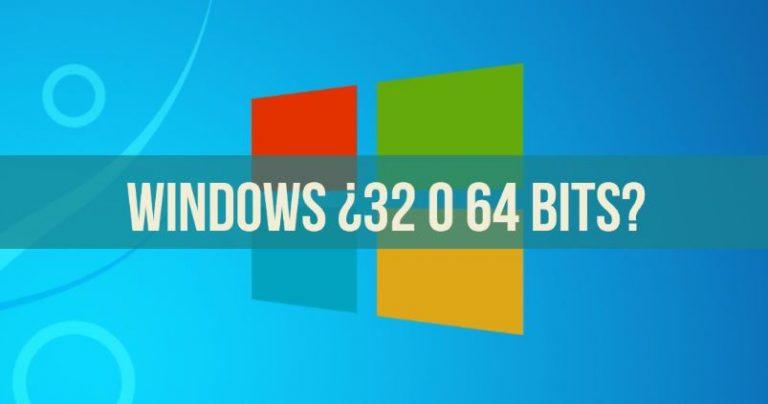 savoir si mes fenêtres sont 32 ou 64 bits