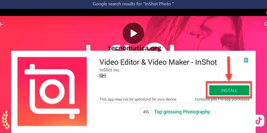 créer une vidéo avec des photos inshot pc