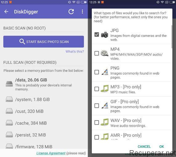 télécharger disk digger pour android