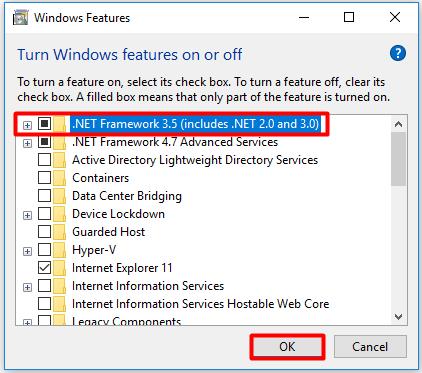 erreur 0x800f081f fichiers source introuvables