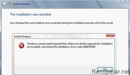 erreur 0x8007045d windows 10 disque dur