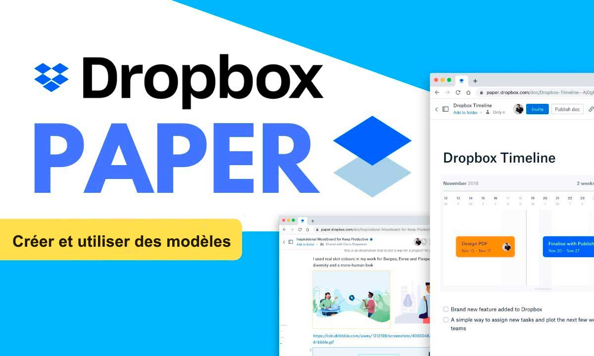 creeer modèles Dropbox Paper