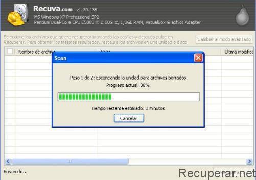 Restauration des données avec Recuva